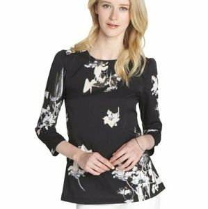 NWOT French Connection Watercolor Floral Blouse